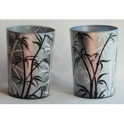 Ensemble de 2 vases feuilles de bambous