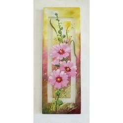 Tableau fleurs de Passe-rose