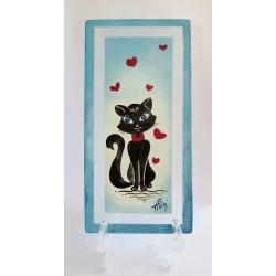 Tableau décoratif  chat noir