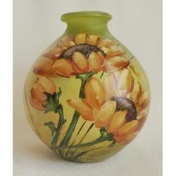 Vase décoratif  tournesols