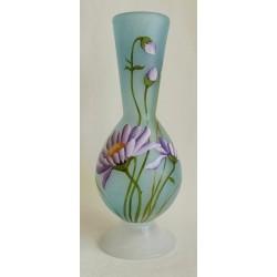 Vase décoratif  fleurs mauves