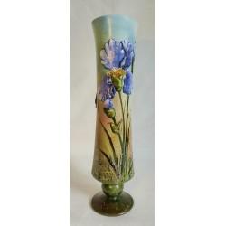 Vase décoratif iris en relief
