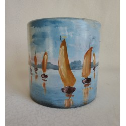Vase décoratif avec bateax