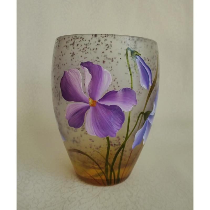 vase d coratif fleurs mauves et violettes viorel panait. Black Bedroom Furniture Sets. Home Design Ideas