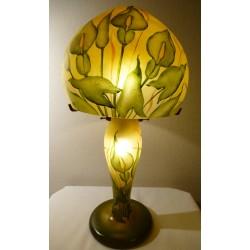 Lampe décorative fleurs d'arômes sur fond ocre