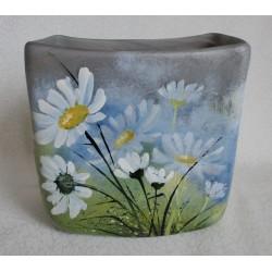 Vase décoratif avec  fleurs de camomilles