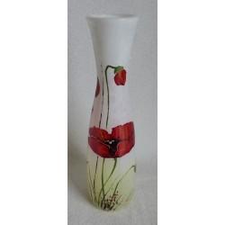 Vase décoratif coquelicots sur fond blanc