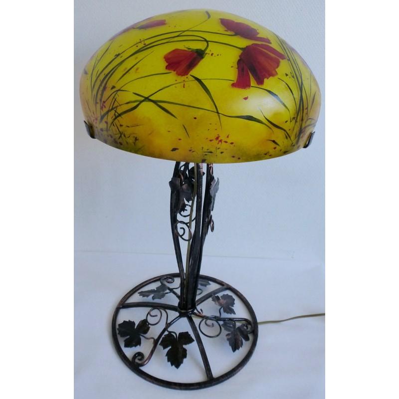 grande lampe d cor floral sur pied en fer forg viorel. Black Bedroom Furniture Sets. Home Design Ideas