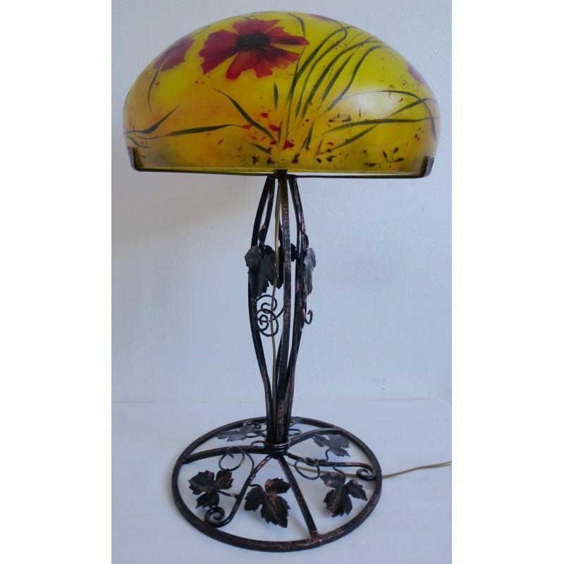 grande lampe d cor floral sur pied en fer forg viorel panait. Black Bedroom Furniture Sets. Home Design Ideas