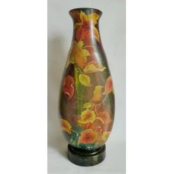 Grand vase décoratif feuilles d'automne