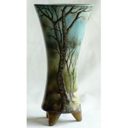 Vase décorative avec paysage d'été en rélief