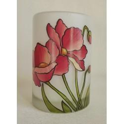 Vase décoratif fleurs stylisées