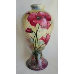 Vase décoratif coquelicots 3