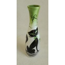 Vase décoratif chat noir