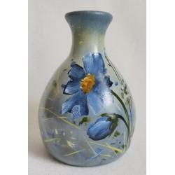 Petit vase fleur bleue