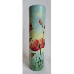 Vase décoratif coquelicots 2