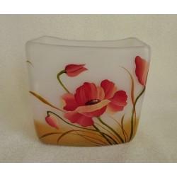 Vase décoratif fond blanc avec fleurs de printemps