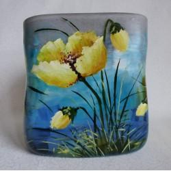 Vase décoratif fleurs jaunes