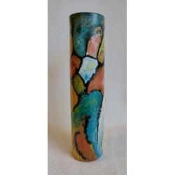 Vase cylindrique à motifs géométriques