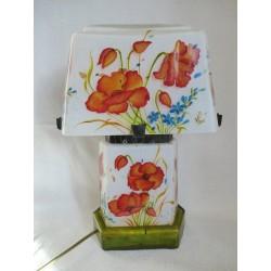 Lampe décorative avec coquelicots