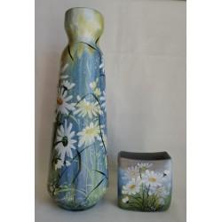 Ensemble de deux vases marguerites 1