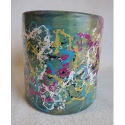 Vase décoratif multicolore