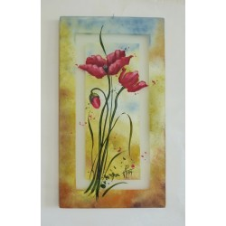 Decorative painting with poppies